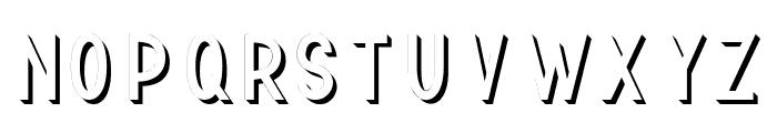 TF Continental 3D No.1 Font UPPERCASE