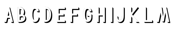TF Continental 3D No.1 Font LOWERCASE