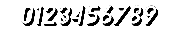 TF Continental 3D No.2 Italic Font OTHER CHARS