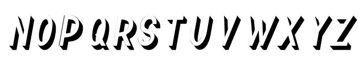 TF Continental 3D No.2 Italic Font UPPERCASE