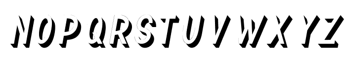 TF Continental 3D No.2 Italic Font LOWERCASE