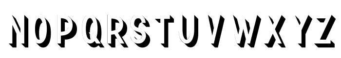 TF Continental 3D No.2 Font UPPERCASE