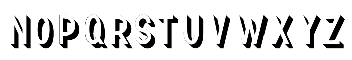 TF Continental 3D No.2 Font LOWERCASE