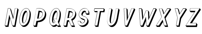 TF Continental Outline 3D Itali Font UPPERCASE