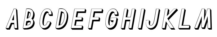 TF Continental Outline 3D Itali Font LOWERCASE