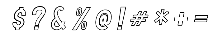 TF Continental Outline Italic Font OTHER CHARS