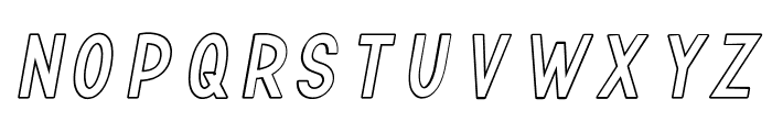 TF Continental Outline Italic Font UPPERCASE