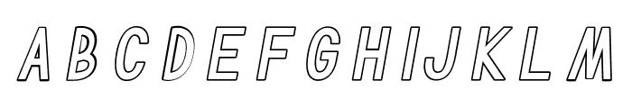 TF Continental Outline Italic Font LOWERCASE