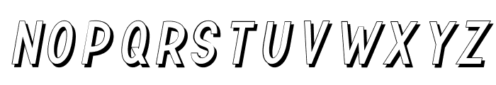 TF Continental Outline Shadow I Font UPPERCASE