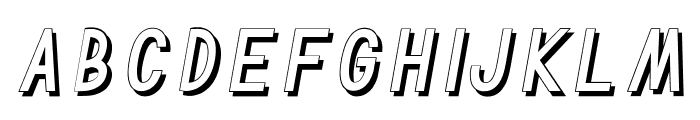 TF Continental Outline Shadow I Font LOWERCASE