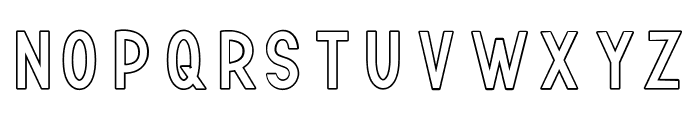 TF Continental Outline Font UPPERCASE