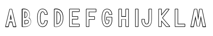 TF Continental Outline Font LOWERCASE