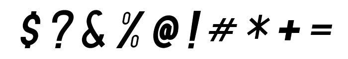 TF Continental Regular Italic Font OTHER CHARS
