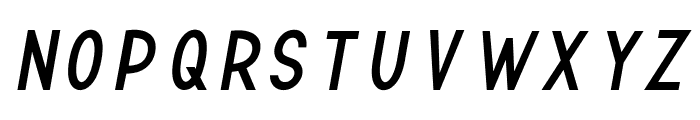 TF Continental Regular Italic Font UPPERCASE