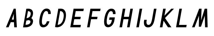 TF Continental Regular Italic Font LOWERCASE