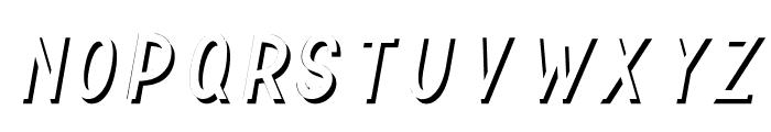 TF Continental Shadow Italic Font UPPERCASE