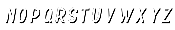 TF Continental Shadow Italic Font LOWERCASE