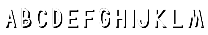 TF Continental Shadow Shadow Font UPPERCASE