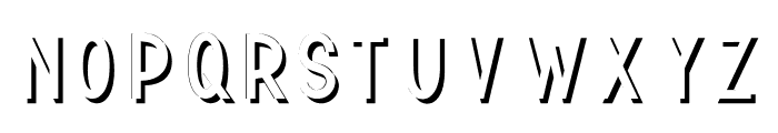 TF Continental Shadow Shadow Font LOWERCASE