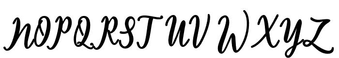 Thatcher Font UPPERCASE