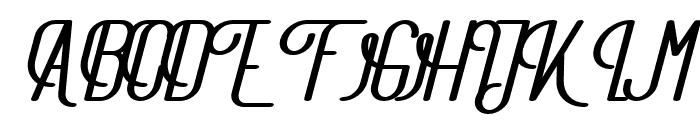 TheAthletica-BlackItalic Font UPPERCASE