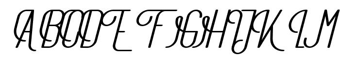 TheAthletica-BoldItalic Font UPPERCASE