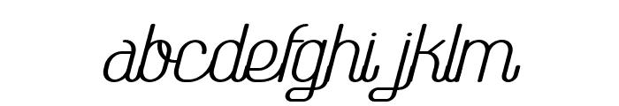 TheAthletica-BoldItalic Font LOWERCASE