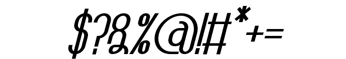 TheAthletica-ExtraBlackItalic Font OTHER CHARS