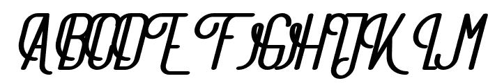 TheAthletica-ExtraBlackItalic Font UPPERCASE