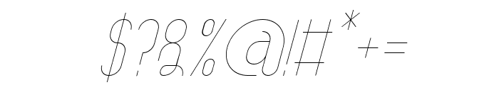 TheAthletica-Italic Font OTHER CHARS