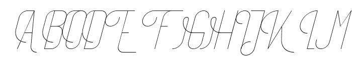TheAthletica-Italic Font UPPERCASE