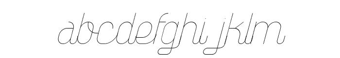 TheAthletica-Italic Font LOWERCASE