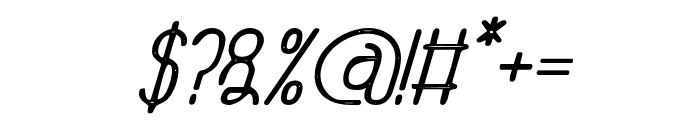 TheAthletica-Letterpress Font OTHER CHARS