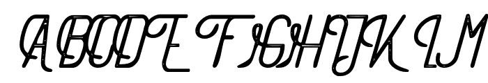 TheAthletica-Letterpress Font UPPERCASE