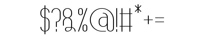 TheAthletica-Medium Font OTHER CHARS