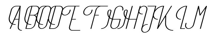 TheAthletica-MediumItalic Font UPPERCASE