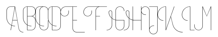 TheAthletica-Regular Font UPPERCASE