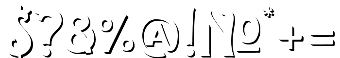 TheSalvador-Shadow Font OTHER CHARS