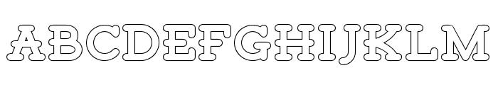 Tigreal-Outline Font UPPERCASE