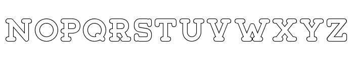 Tigreal-Outline Font LOWERCASE