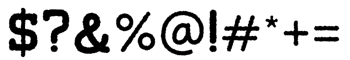 Tigreal-Rough Font OTHER CHARS