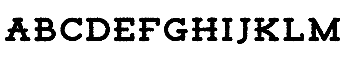 Tigreal-Rough Font LOWERCASE
