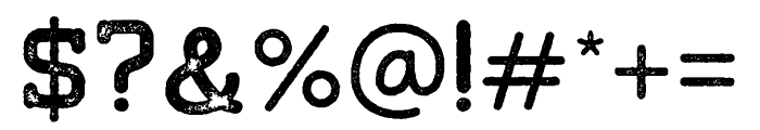 Tigreal-Stamp Font OTHER CHARS