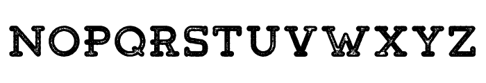 Tigreal-Stamp Font UPPERCASE