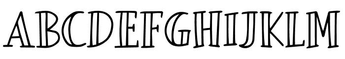 Tizart Font UPPERCASE