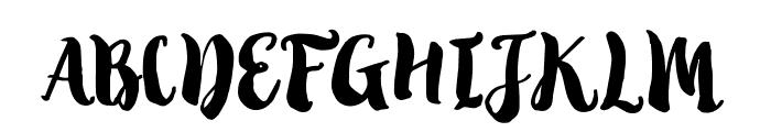 Tropical Brush Script Font UPPERCASE