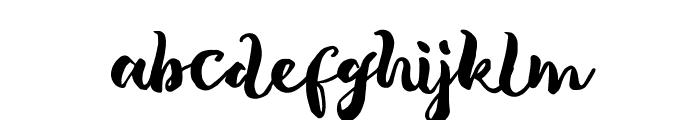 Tropical Brush Script Font LOWERCASE
