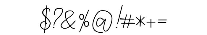 Tropical Monoline Script Font OTHER CHARS