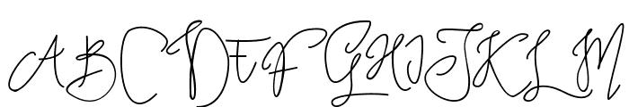 Tropical Monoline Script Font UPPERCASE