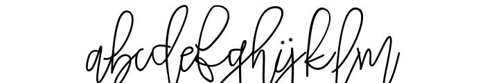 Tropical Monoline Script Font LOWERCASE